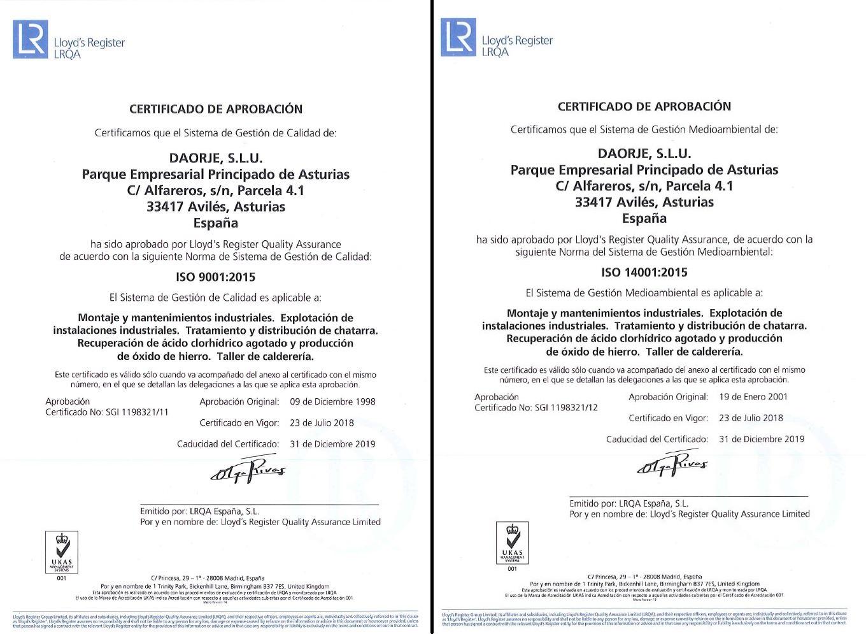 Adaptación a las nuevas normas ISO 2015
