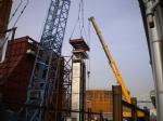 Fabricación de chimenea principal (Ø3,8 x 65 mrts) en carbono e inox para caldera de refinería de Lubrisur